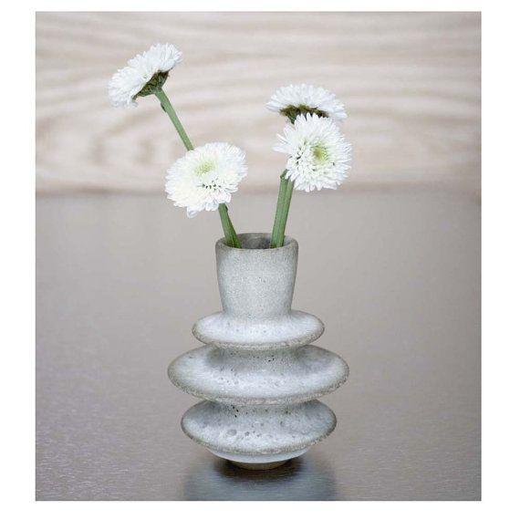 Tiny Triple Flanged Ceramic Bud Vase by Sara Paloma by sarapaloma, $60.00