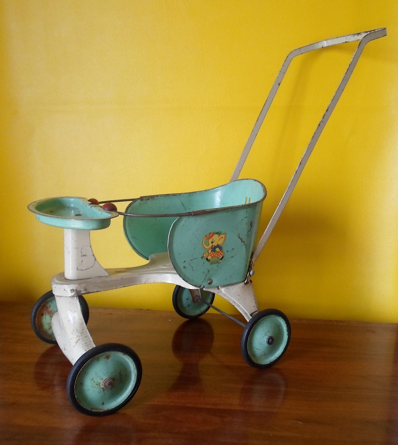 Vintage Toy Stroller Antique Turner Toy Doll Stroller Made In Usa Childs Toy