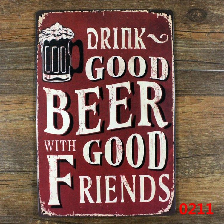 Friends Vintage Retro Wooden Wall Mounted Beer Bottle Opener