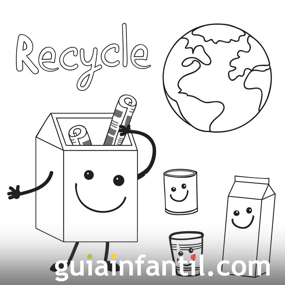 Dibujos Para Colorear Con Los Ninos Del Medio Ambiente En 2020 Educacion Ambiental Para Ninos Medio Ambiente Para Colorear Actividades Para Preescolar