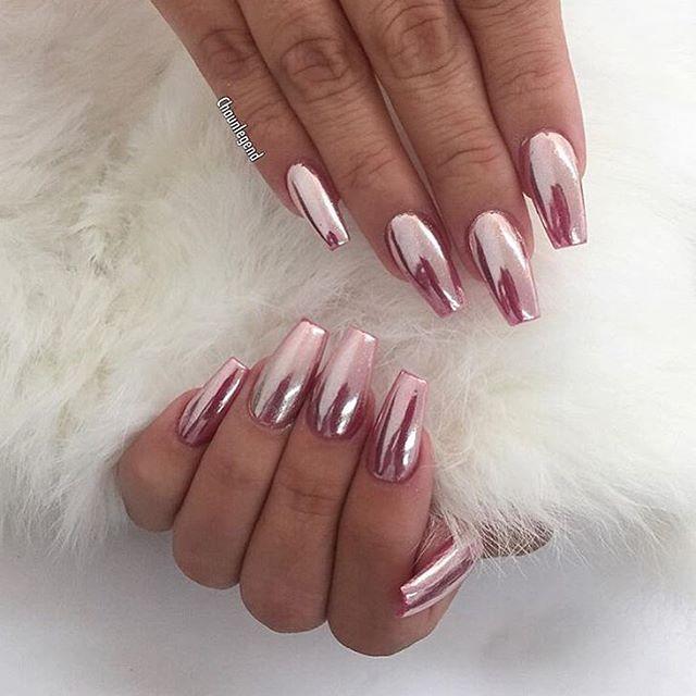 pin von emily plumacher auf beauty nails pinterest n gel nageldesign und chrome n gel. Black Bedroom Furniture Sets. Home Design Ideas