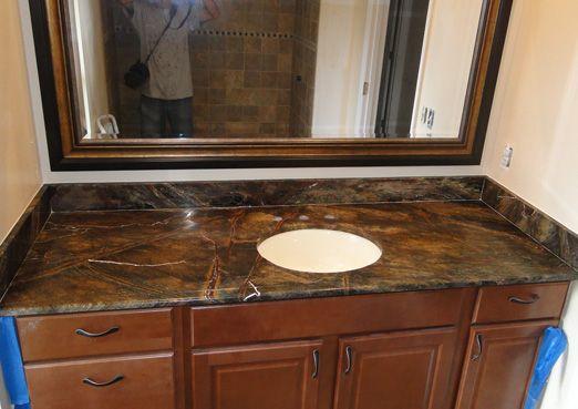 Rainforest Green Marble Bathroom Countertop