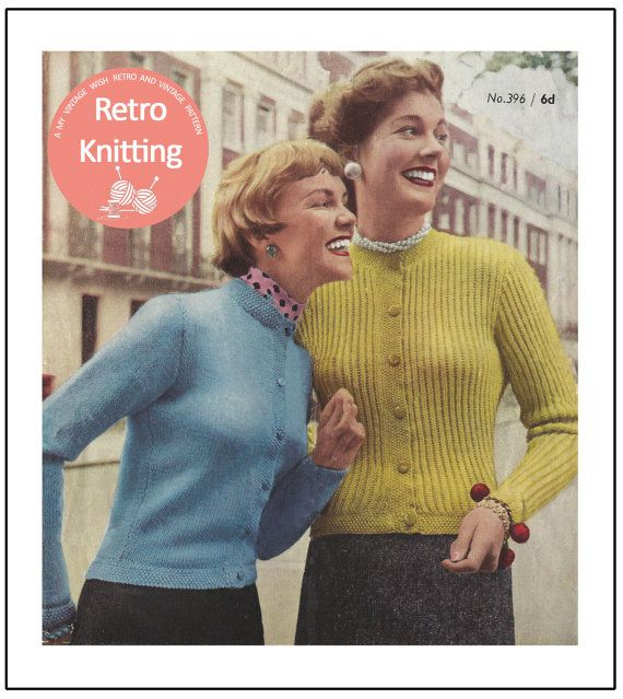 Copy 1940/'s Colour Block Sweater Knitting Pattern