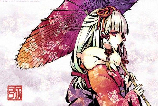 Anime Kartinki Devushka V Kimono S Dlinnymi Volosami 14 Tys