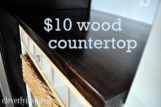 Love this solution. $10 wood countertop