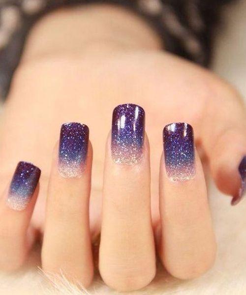 Galaxy Nail Art Idea