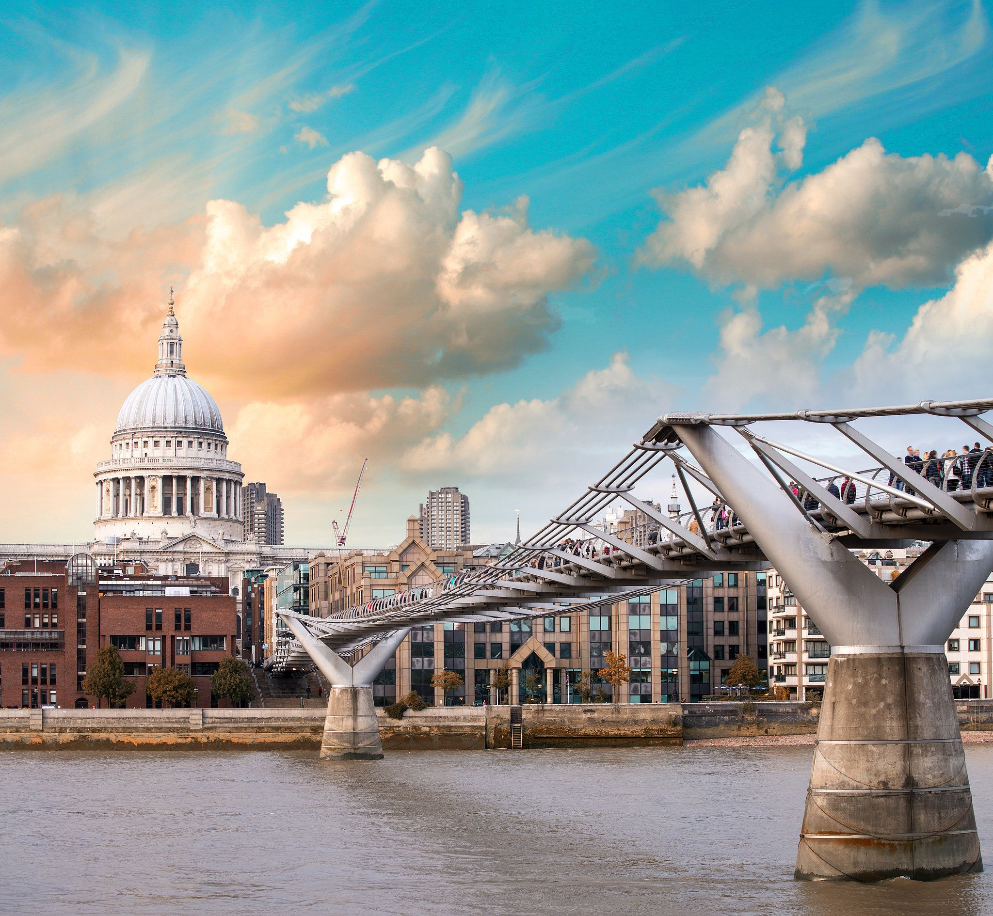 Millennium Bridge London Harry Potter Travel Harry Potter Travel Bucket List Travel