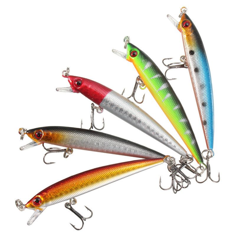 9cm 7g Crankbaits Outdoor Useful Minnow Baits Fish Hooks Lures Fishing
