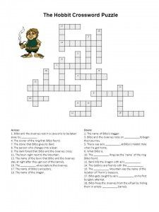 The hobbit crossword puzzle free printable learning english and the hobbit crossword puzzle free printable learning english and the alphabet malvernweather Gallery