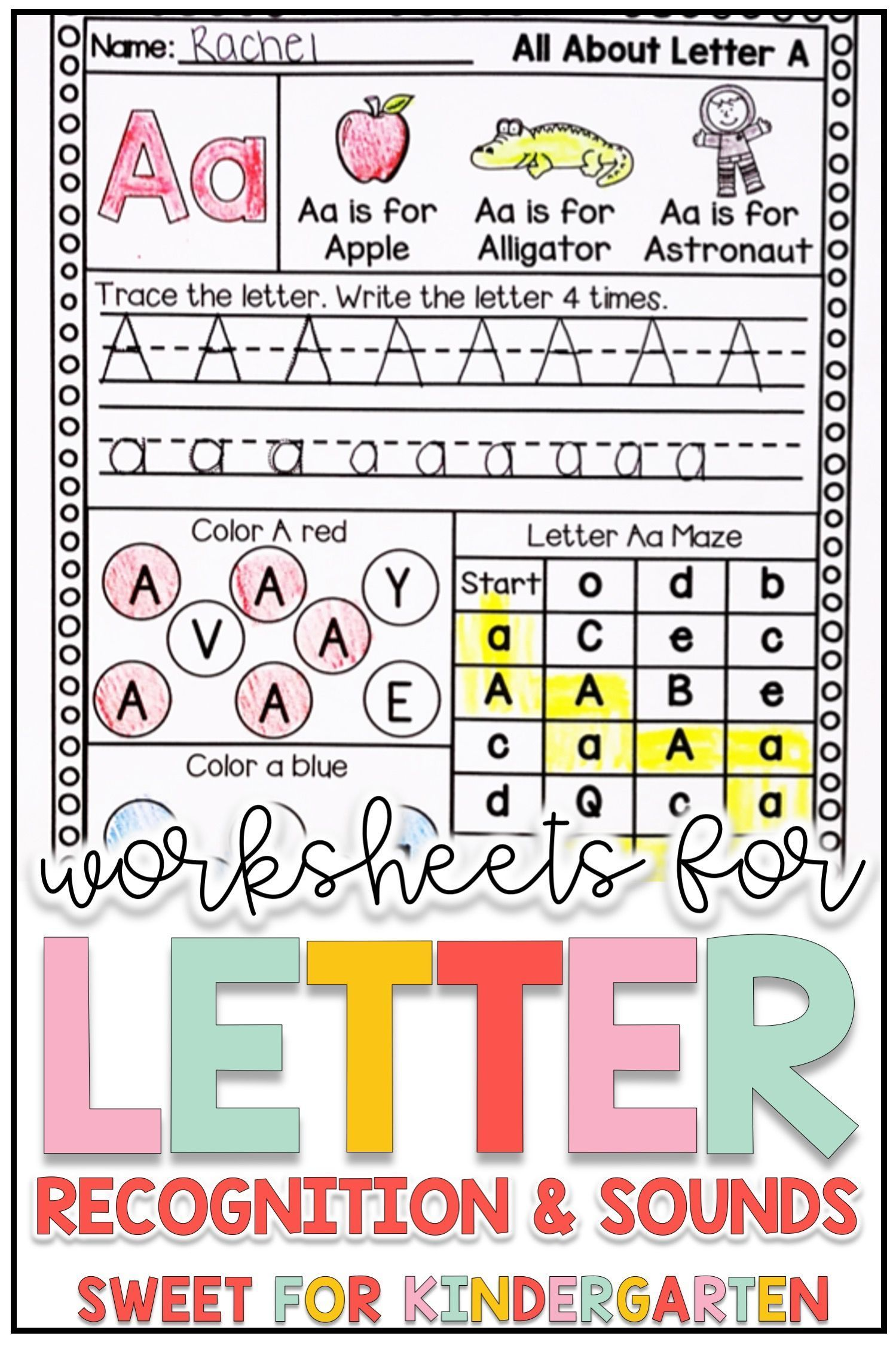 Letter Recognition And Sounds Worksheets Distance Learning Kindergarten Phonics Curriculum Letter Recognition Alphabet Recognition [ 2249 x 1499 Pixel ]
