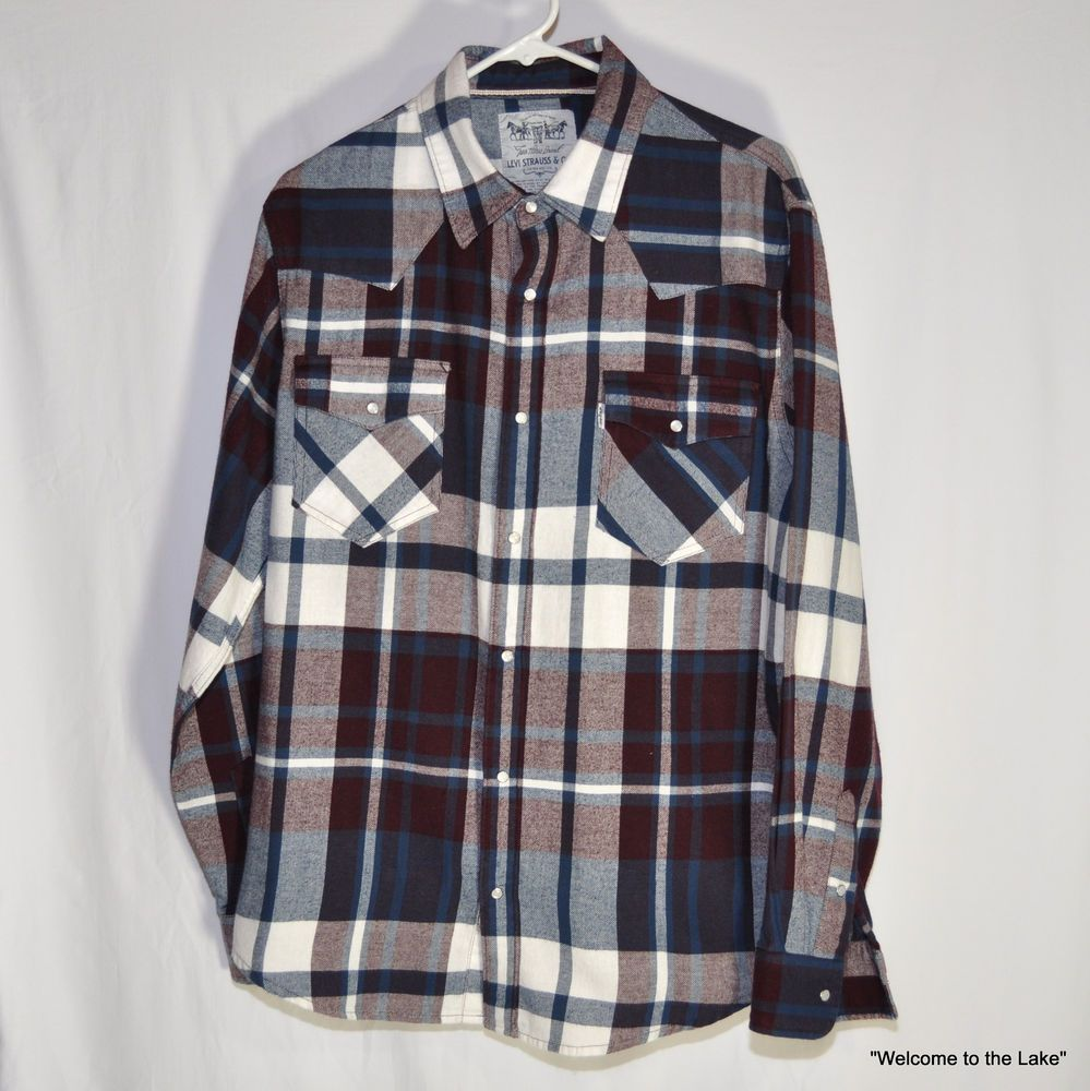 Flannel shirt men outfit  MENS CLOTHING  Levi Strauss u Co Two Horse Brand Flannel Shirt