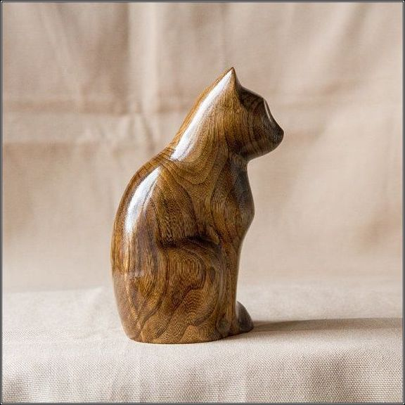 ooden carved pulley cat - 570×570