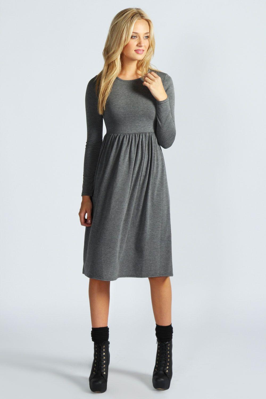 Long Sleeve Midi Dress Boohoo Uk Long Sleeve Midi Dress Long Sleeve Midi Fashion