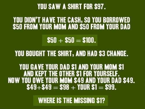Wheres is the missing $1?