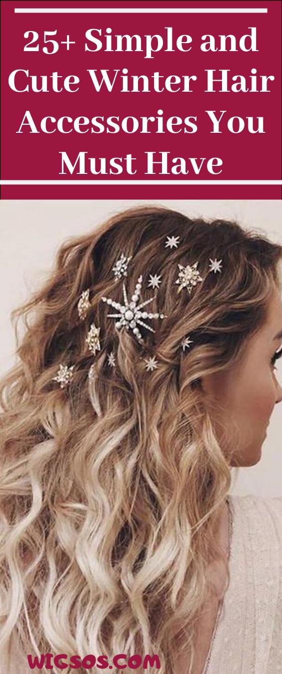 25+ einfache und süße Winter-Haar-Accessoires, die Sie haben müssen #winter #…