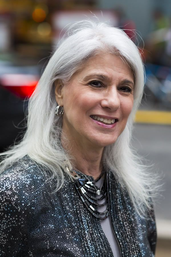 Celebrating Women Over 40 With Long Grey Hair Long Gray