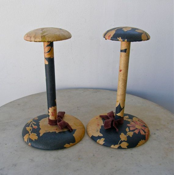 One 1 VINTAGE HAT STAND Mushroom Shaped Top Wood by OnceUpnTym