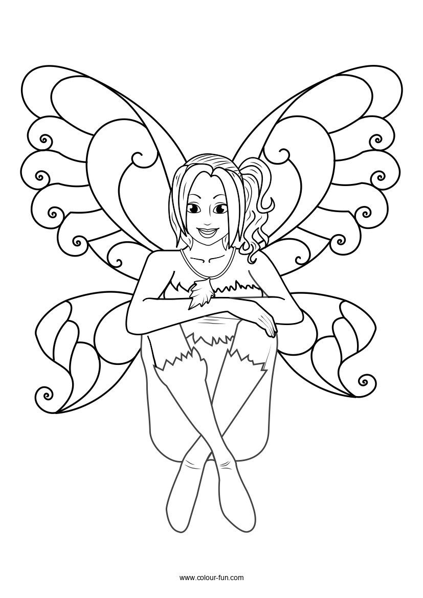 Free Fairy Fairy coloring, Fairy coloring pages
