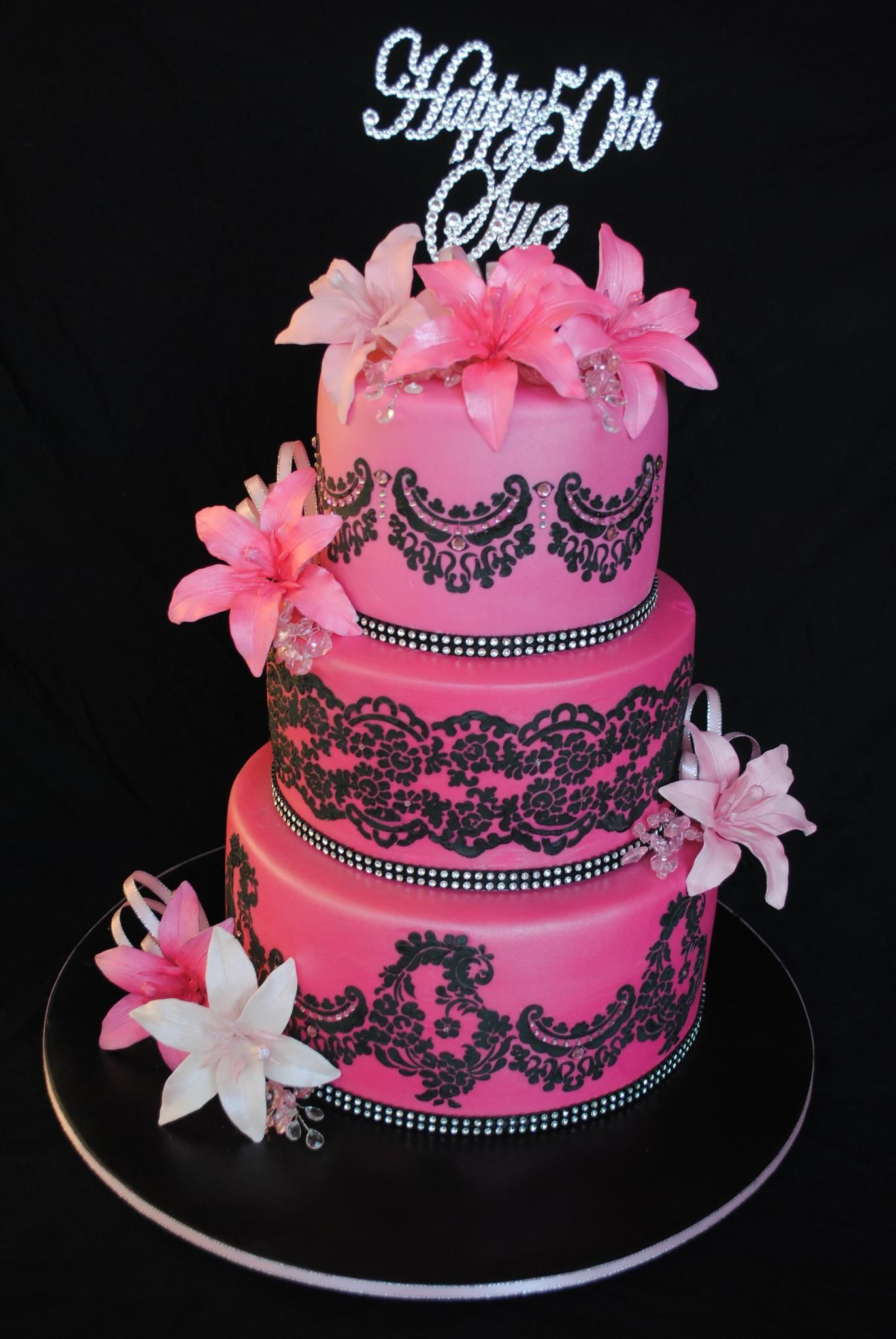 Birthday Cakes. This would be beautiful as a wedding cake, pink but ...
