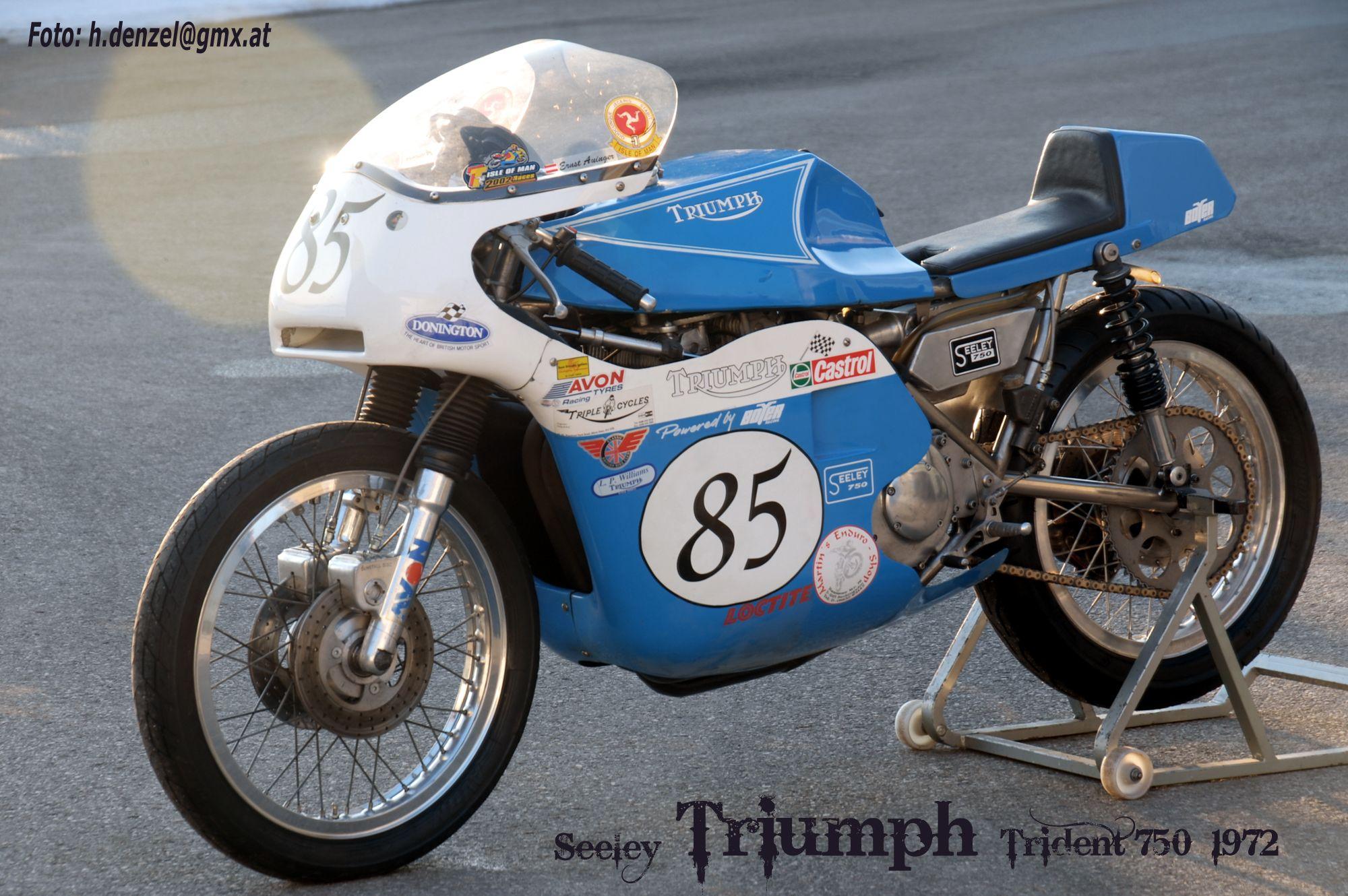 Seeley Triumph Trident 750ccm 1972 Racing Bikes Triumph Bikes Classic Motorcycles