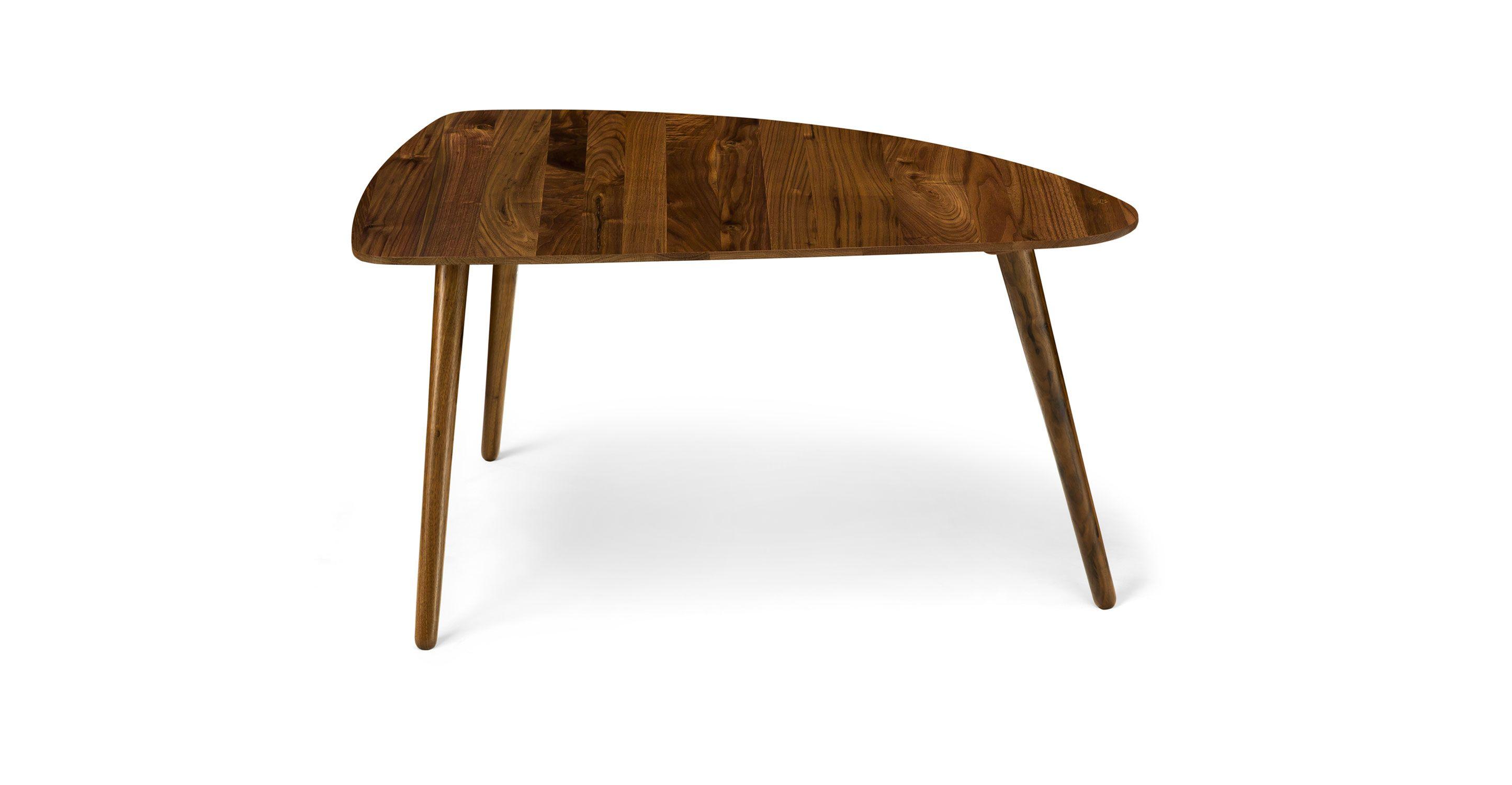 """Coffee Table In Walnut Wood 35"""" Wide"""