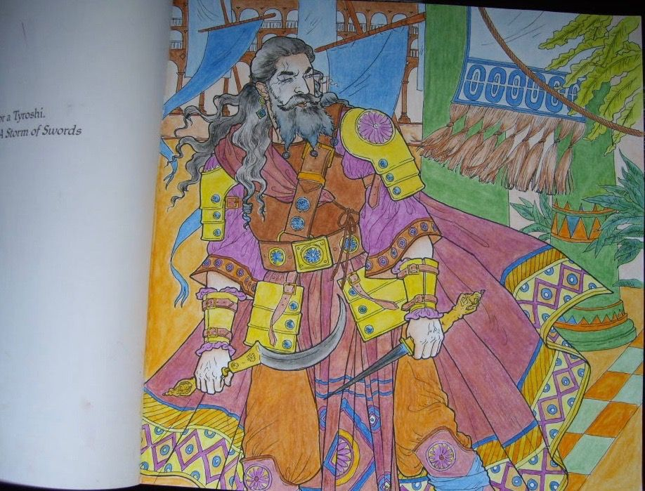 Game Of Thrones Colouring Book The Flamboyant Daario Naharis Much More In Books Not Show