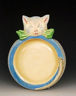 Clarice Cliff Joan Shorter Cat A Novelty Clarice Cliff Childrens Dishes Baby Dishes