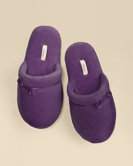 My Soma Wish List Sweeps Soma Intimates Plush Scuff Slipper Blackberry #somaintimates