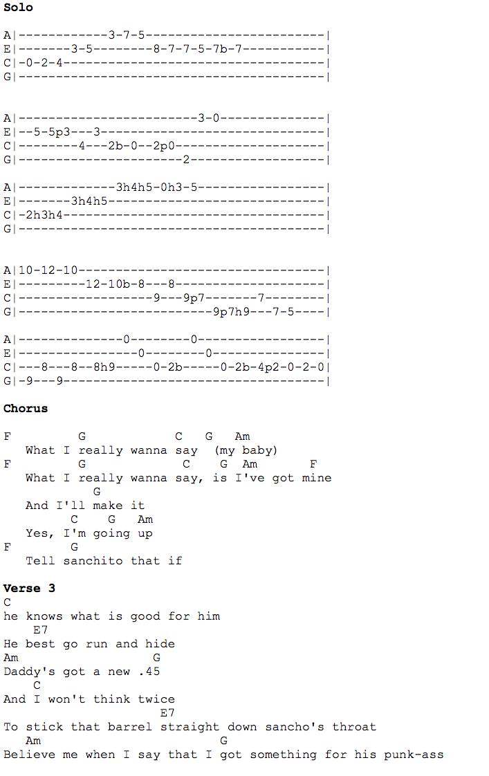 Santeria pg2 uke solo tab ukulele pinterest explore ukulele chords and more hexwebz Images