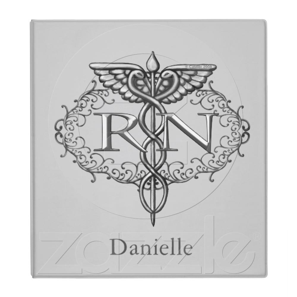 Oval silver caduceus rn nurse binder tattoo tatting and tatoos oval silver caduceus rn nurse binder buycottarizona Choice Image