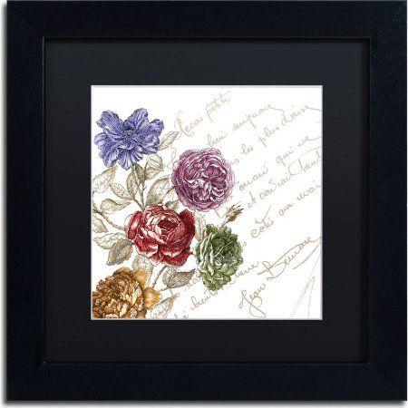 Trademark Fine Art La Belle Vie I Canvas Art by Color Bakery, Black Matte, Black Frame, Assorted