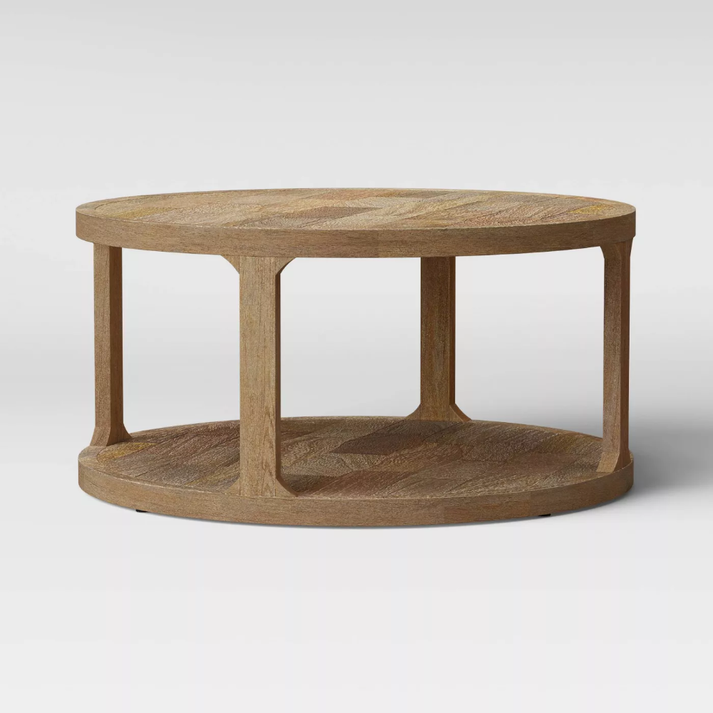 Castalia Round Natural Wood Coffee Table Threshold In 2021 Natural Wood Coffee Table Coffee Table Wood Coffee Table [ 1000 x 1000 Pixel ]