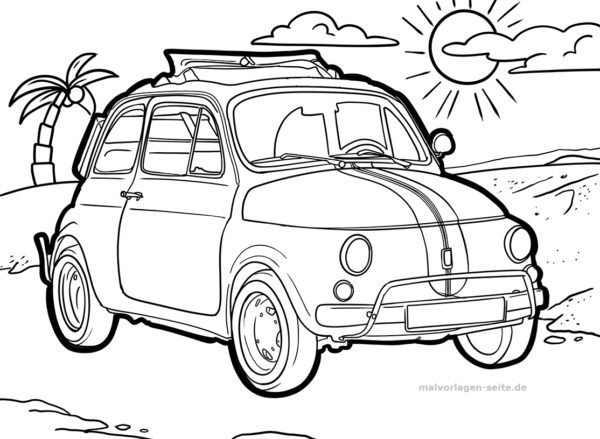 Malvorlage Oldtimer | Malvorlagen, Ausmalen, Malvorlage auto