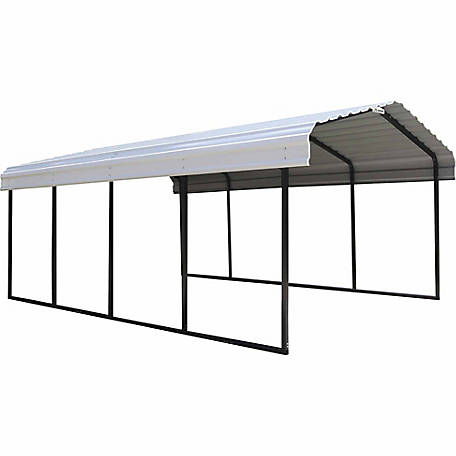 Arrow Storage Products 12 Ft X 20 Ft Carport At Tractor Supply Co In 2020 Steel Carports Steel Roof Panels Metal Carports