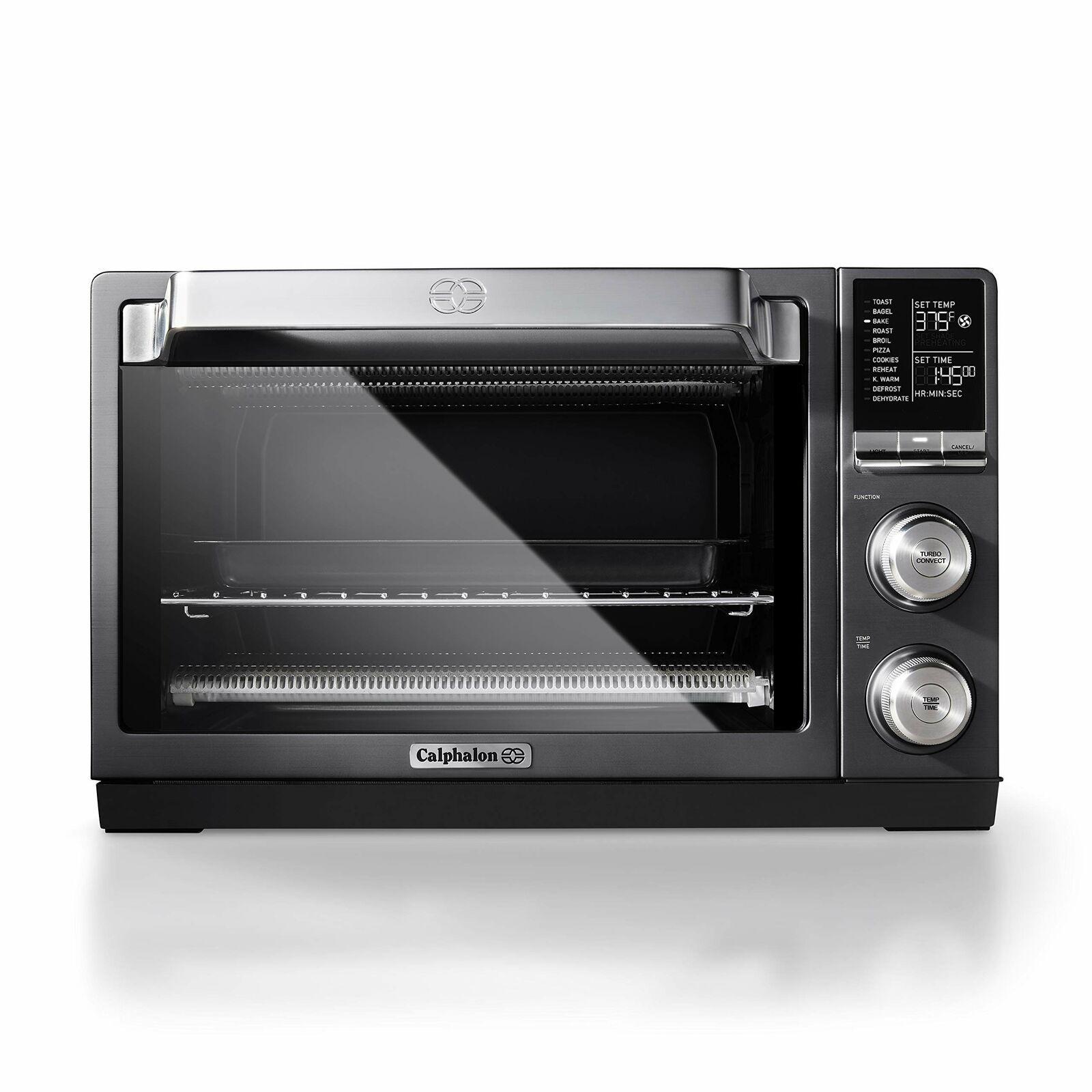 Details About Calphalon Quartz Heat Countertop Toaster Oven Dark