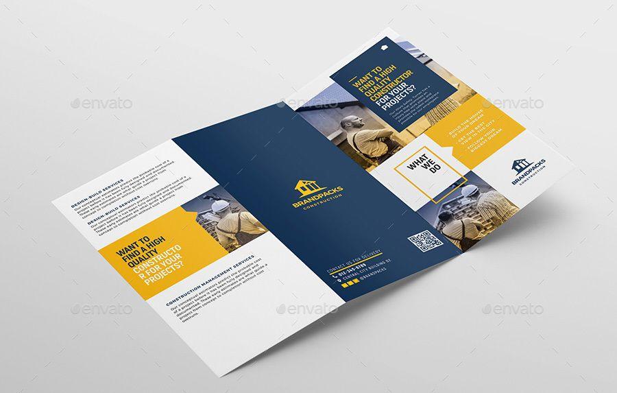 Construction Tri Fold Brochure Template Ai Builder Builders