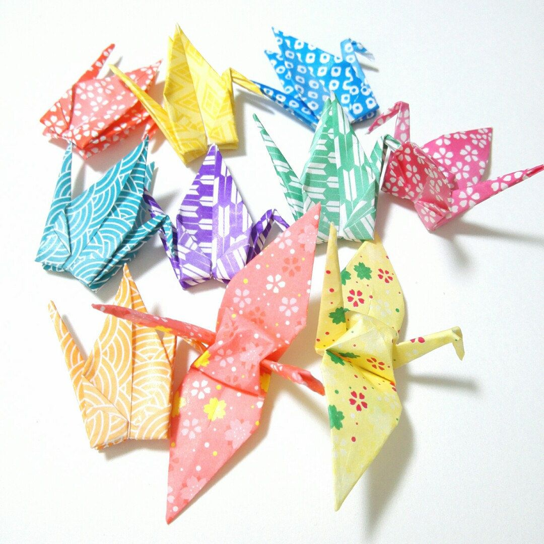 Added cute japanese origami cranes to shop with images