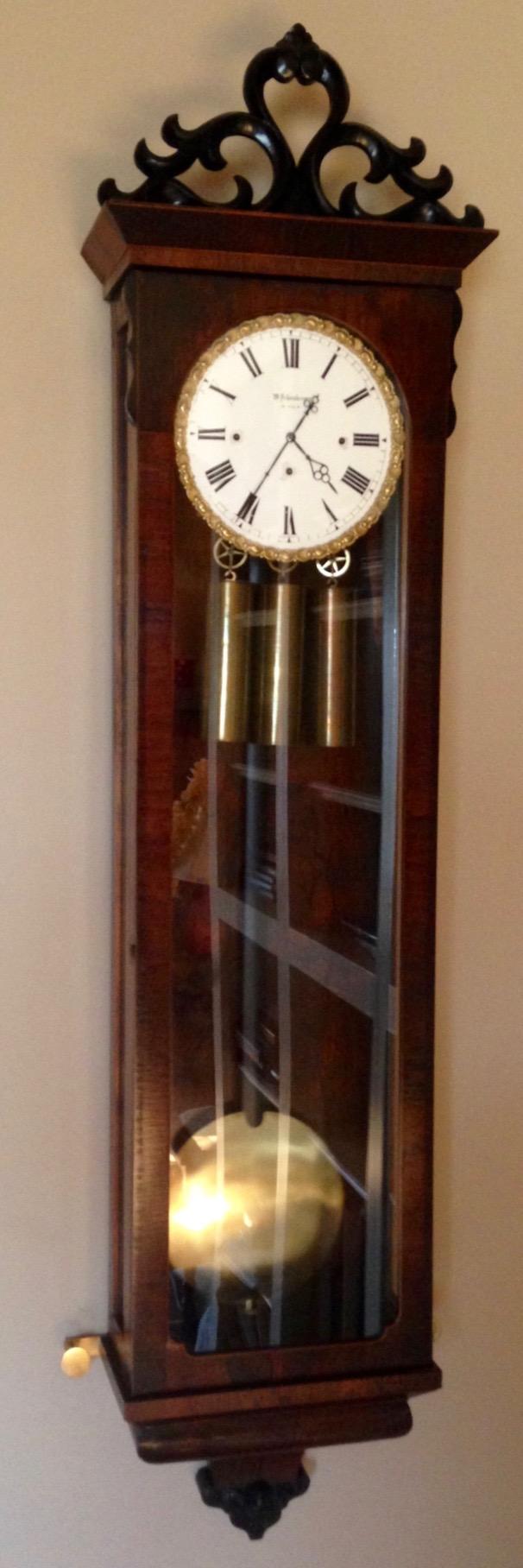 Wenzel schonberger vienna regulator clock at antique clock wenzel schonberger vienna regulator clock at antique clock amipublicfo Images