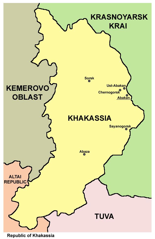 Khakassia republic mappng Hakasya Abakan Pinterest Travel