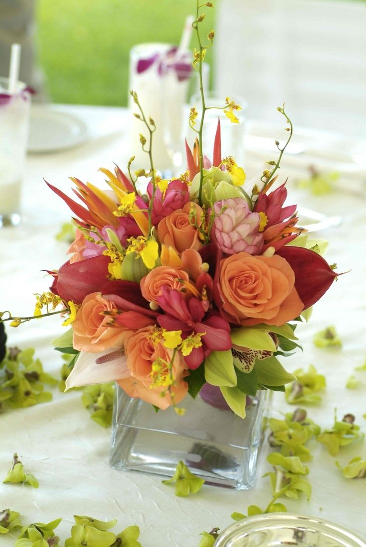 Tropical Flower Wedding Centerpieces Centerpiece For Hawaiian
