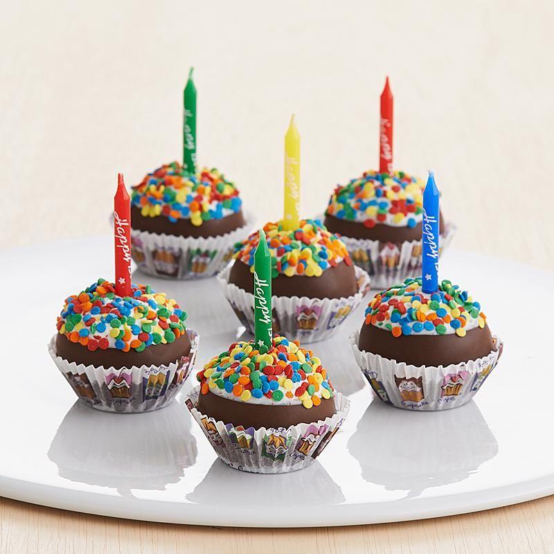 Handmade Birthday Cupcake Brownie Pops