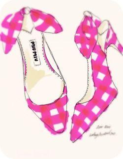illustration. lg    miu miu pumps