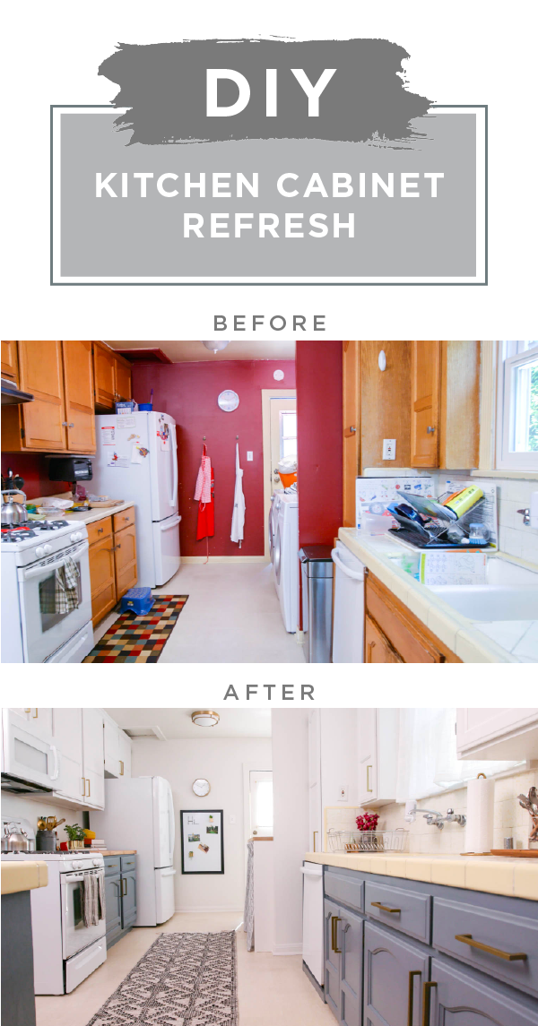 Trendy Two Toned Kitchen Cabinet Refresh Kitchen Cabinets Diy