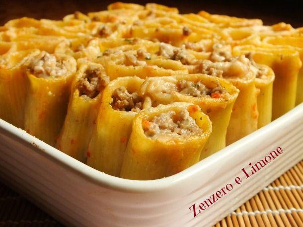 Paccheri ripieni ricetta pasta al forno primi piatti for Ricette italiane primi piatti