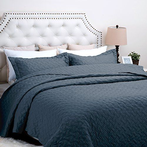 Bedsure Solid Patterned Quilt Set with Shams - Hypoallerg... https ... : patterned quilt - Adamdwight.com
