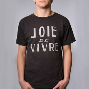 joie de vivre t shirt fashion typography french french chic