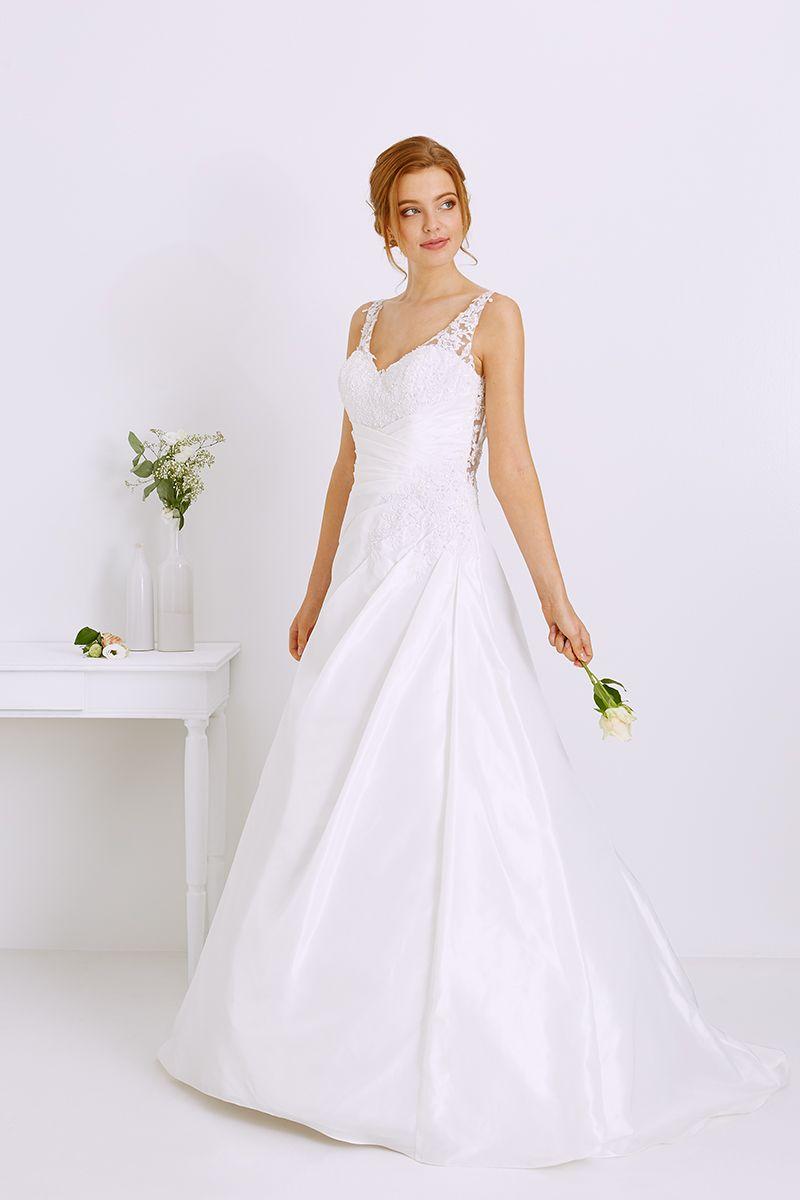 Robe de mariée évasée , Modèle Domelia TATI.