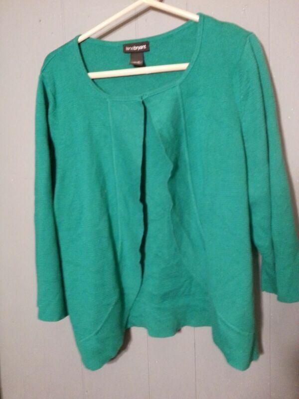 Used (normal wear) - Lane Bryant green women's size 16 - 14 ladies sweater green