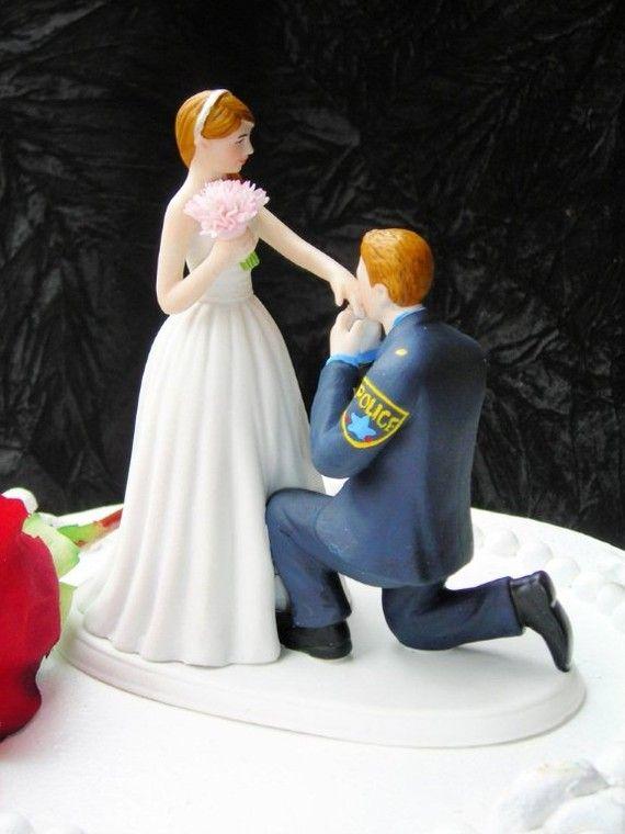 wedding cake toppers police officer - Google-søgning | Wedding ...