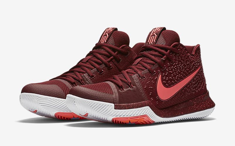 Nike Kyrie 3 Warning Release Date. Nike Kyrie 3 dressed in Hot Punch and  Team Red that has a motto of putting fear in your defenders when guarding  you.
